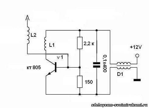 Катушка Тесла на одном транзисторе или качер Бровина