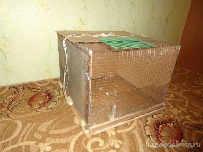 Клетка для фазанов на «коленке»
