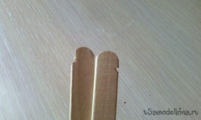 Как сделать прикольную рогатку из палочек от мороженного!