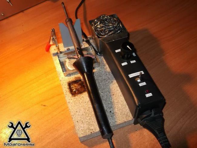 Подставка для паяльника с регулятором мощности