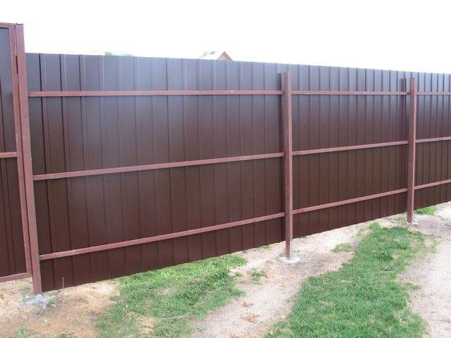 Забор из профнастила - недорого, красиво, надолго