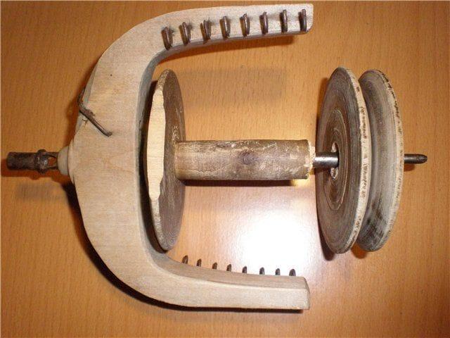 Электропрялка с элементами «Ретро» своими руками