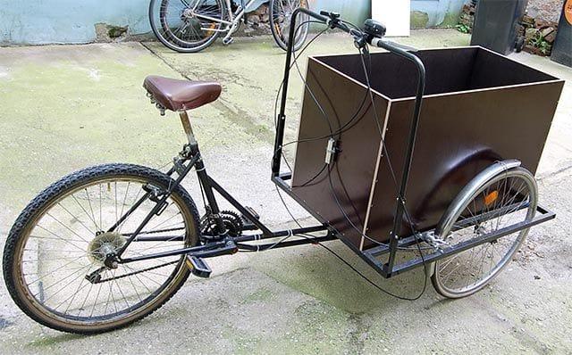Трёхколёсный велосипед для дачи своими руками видео