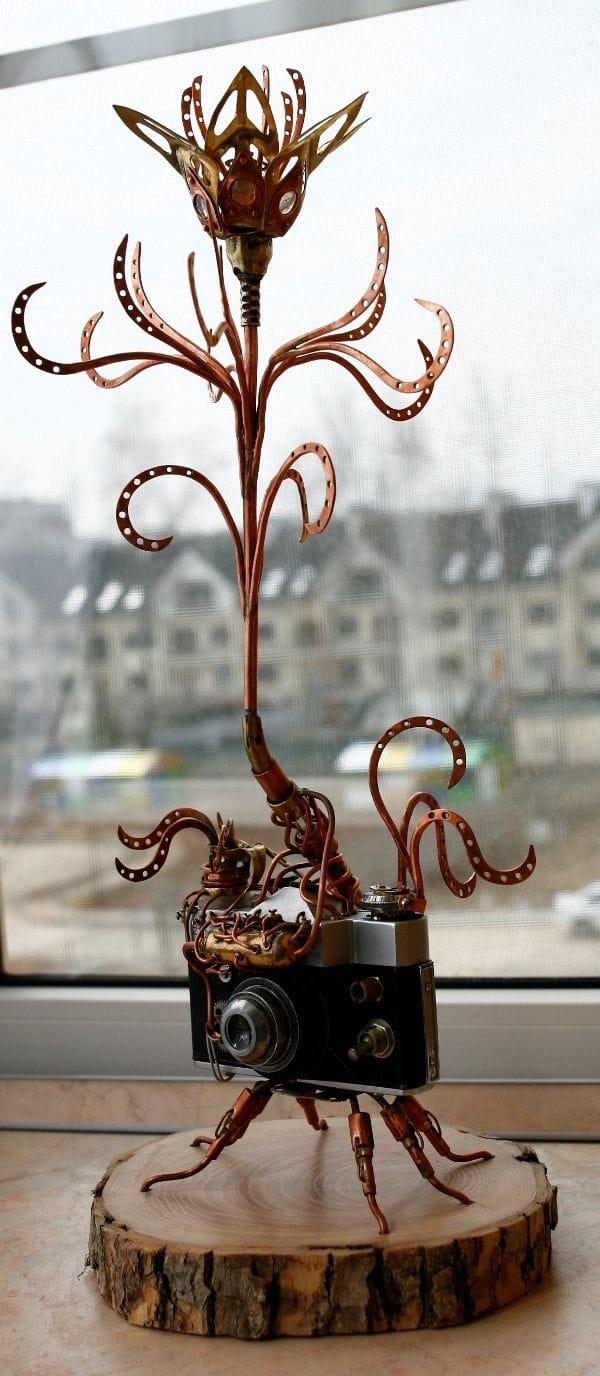 Цветок в стиле стимпанк для хранения украшений