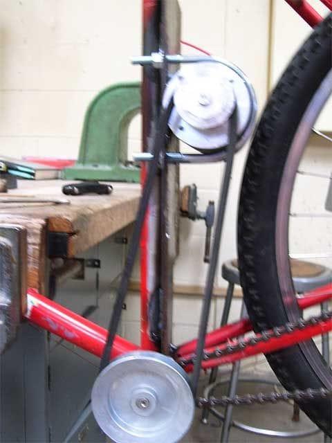 Велосипед с самодельным электроприводом