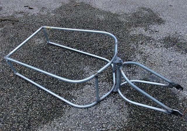 Рамный прицеп для велосипеда с амортизатором своими руками