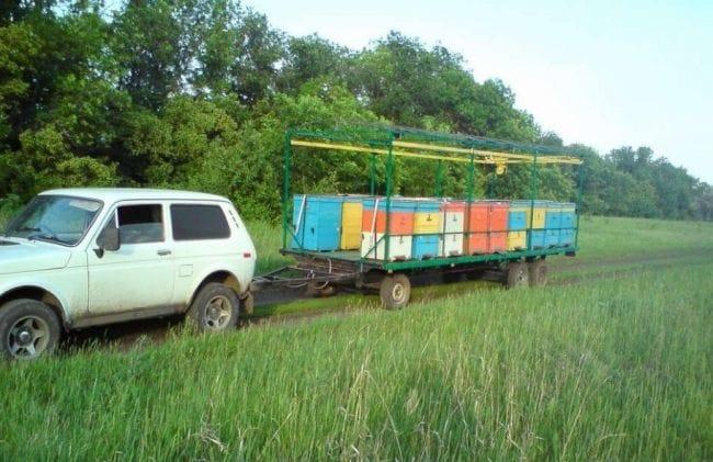 Пасечный домик на колёсах