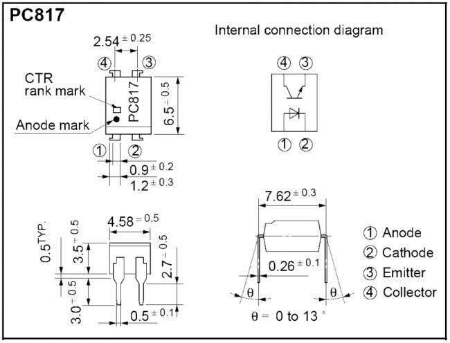Оптопара P817