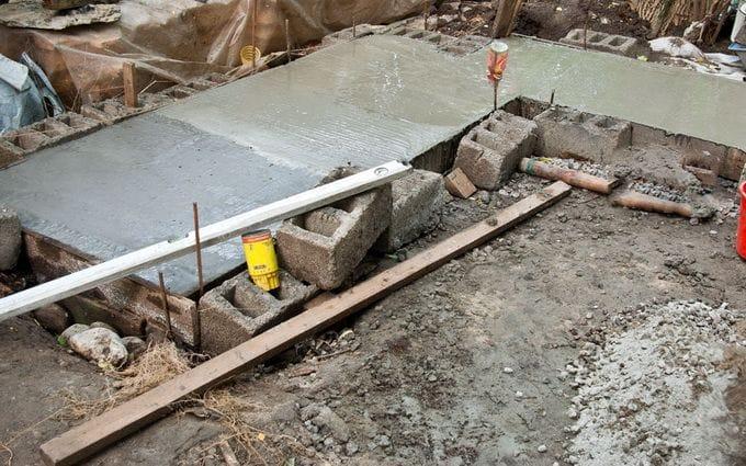 Фундамент под кухню своими руками на даче