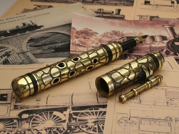 Перьевая ручка в стиле стимпанк своими руками