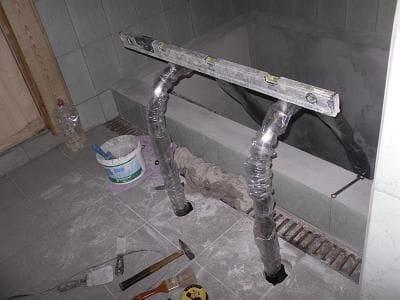 Самодельная купель в бане