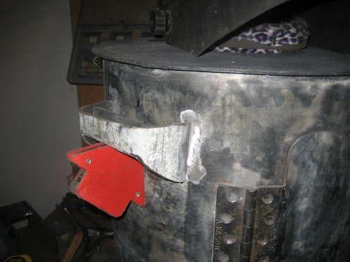 Переносная печь из газового баллона