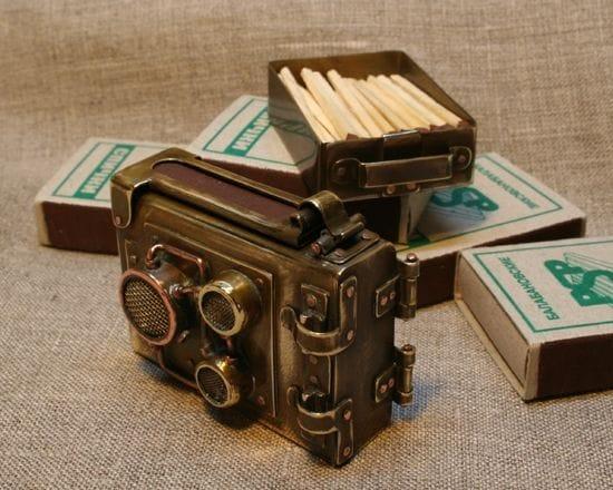 Спичечный коробок в стиле стимпанк
