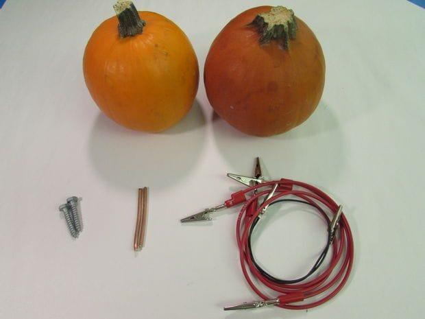 Как изготовить батарейку из тыквы