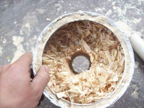 Самодельная переносная печь на опилках