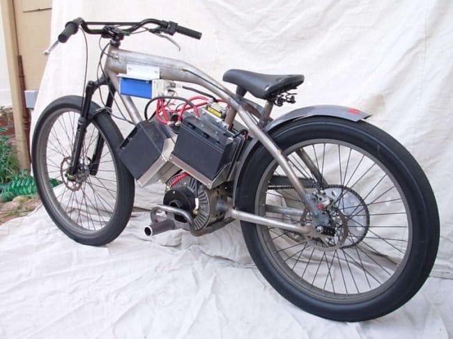 Самодельный электрический мотовелосипед мощностью 15 л.с.