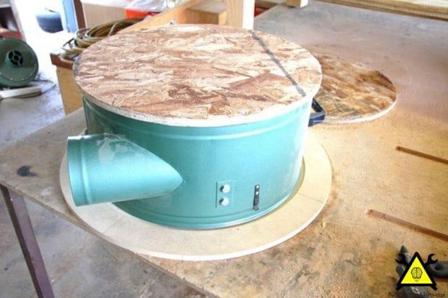 Циклонный сепаратор для деревянной стружки