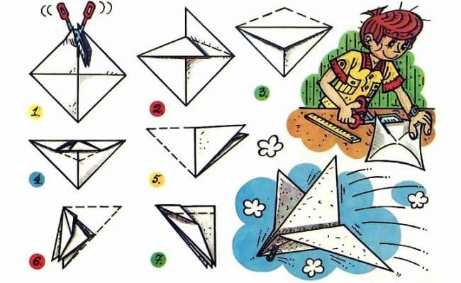 Как сделать из бумаги самолёт который делает трюки