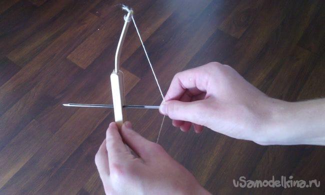 Как сделать мини лук из палочек от мороженного своими руками!