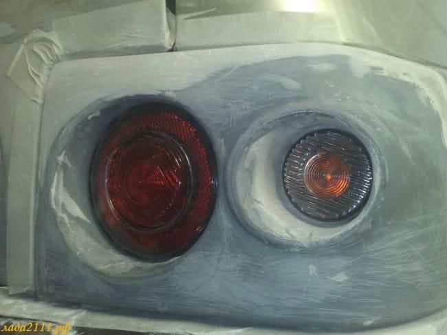 Круглые задние фонари на ВАЗ 2110 своими руками