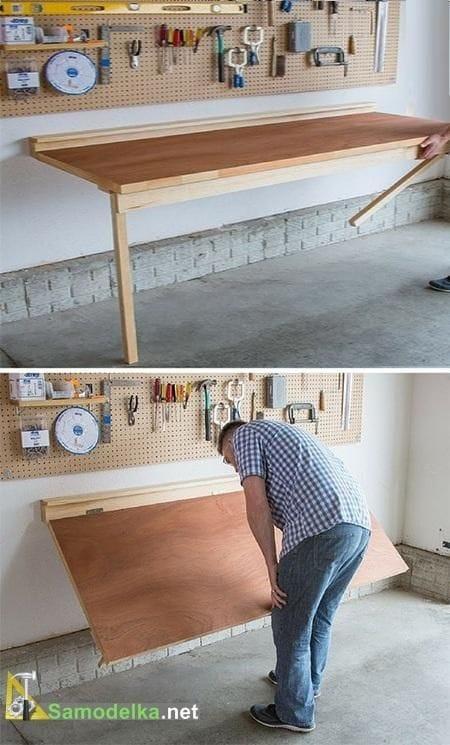 Откидной стол с креплением к стене своими руками
