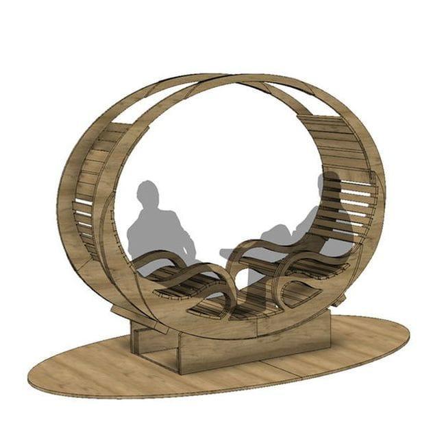 Кресло-качалка для двух человек