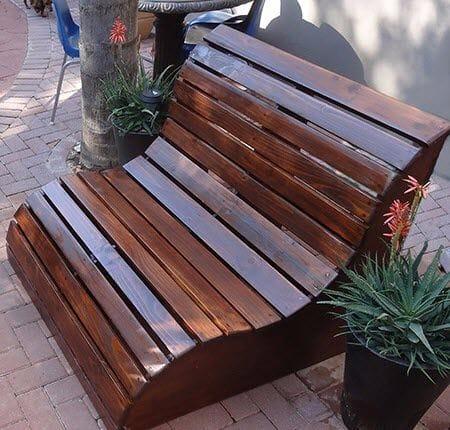 Необычная садовая скамейка своими руками