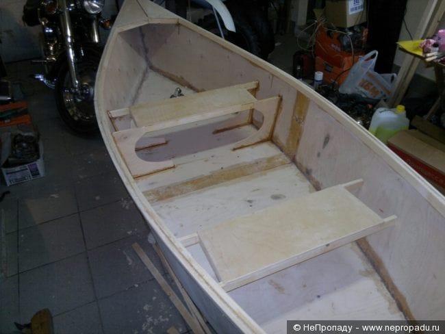 Лодка из фанеры своими руками