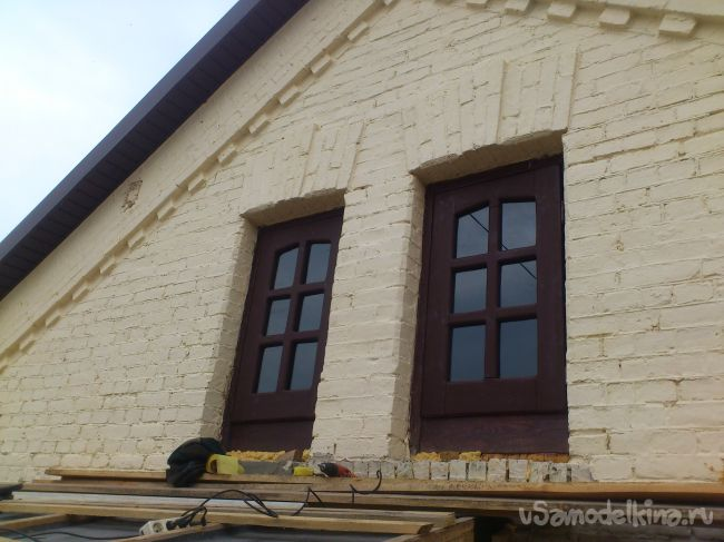 Чердачные окна из неструганой доски быстро, дёшево
