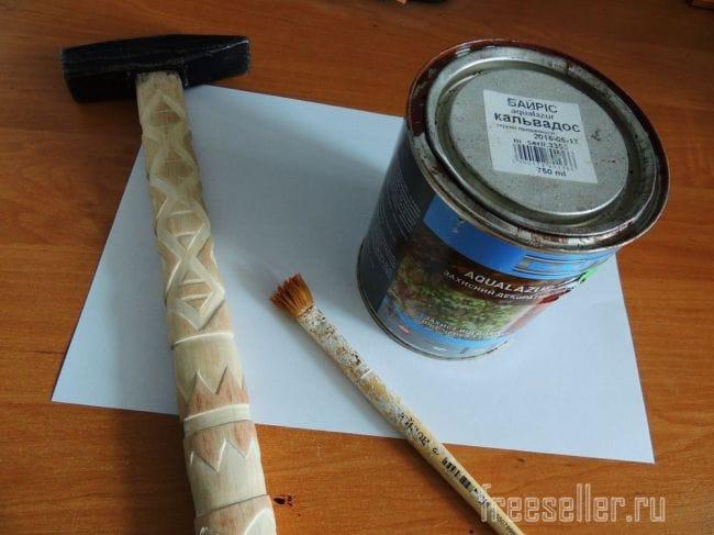 Резная ручка молотка своими руками