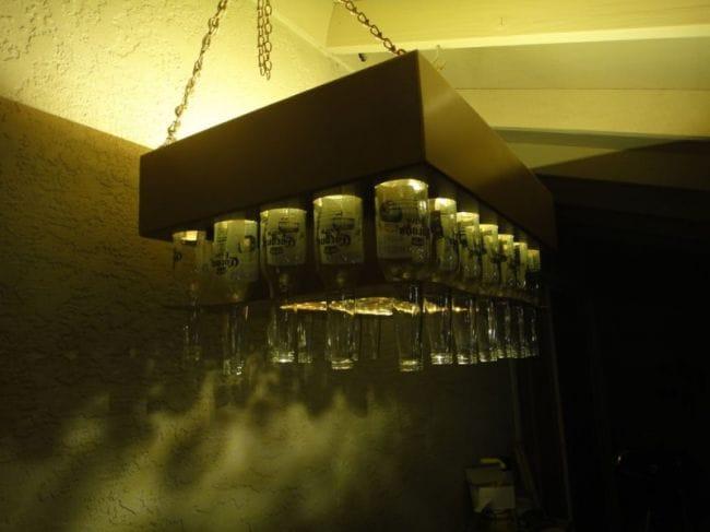 Люстра из пивных бутылок