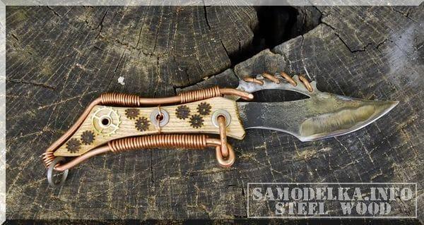 Нож в стиле стимпанк своими руками
