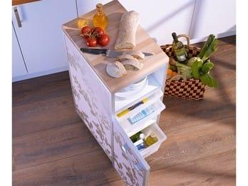 Кухонная тележка на колесиках