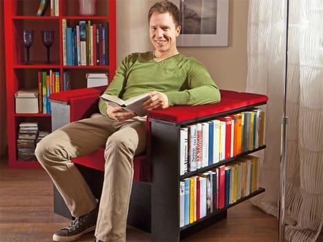 Кресло с полками для книг своими руками