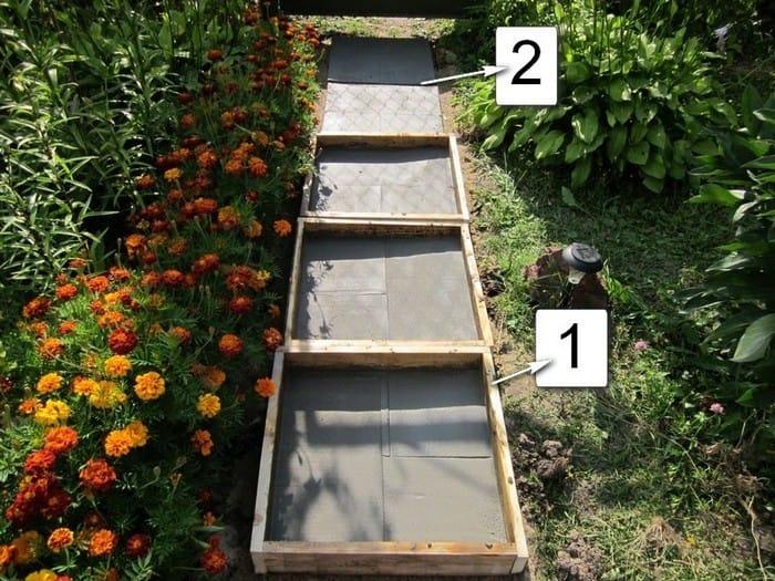 Как самому сделать форму для дорожки садовой