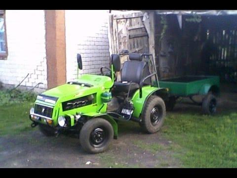 MINI Трактор с движком и задним редуктором от «Муравья»