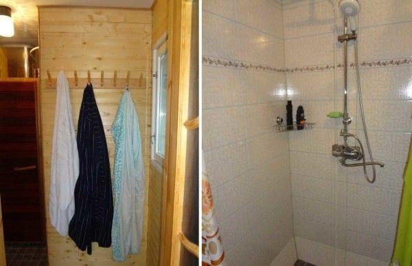 Каркасная баня с теплыми полами своими руками