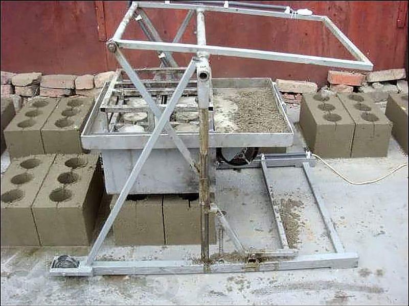 как делают блоки для строительства