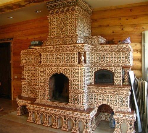 Облицовка печи керамической плиткой своими руками