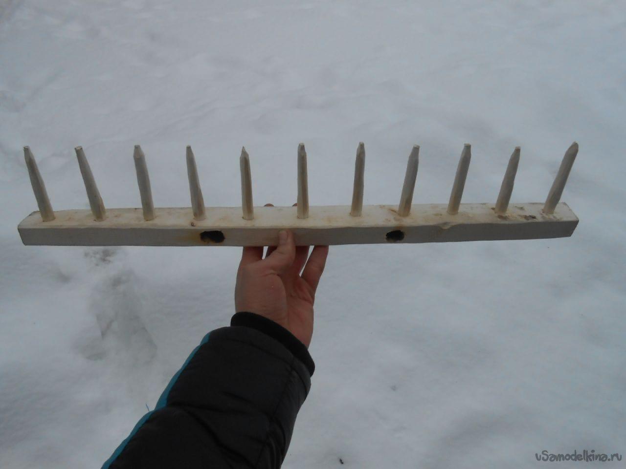Как самому сделать деревянные грабли