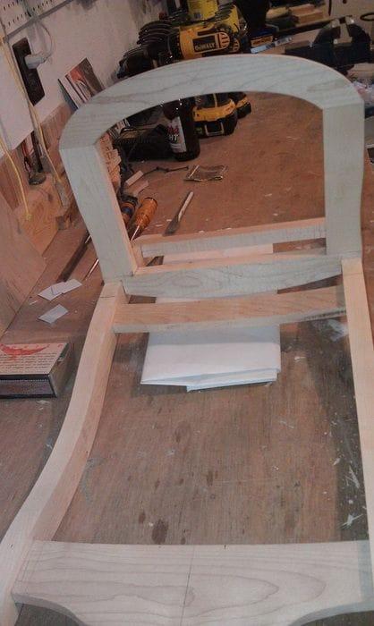 Самодельное кресло-качалка