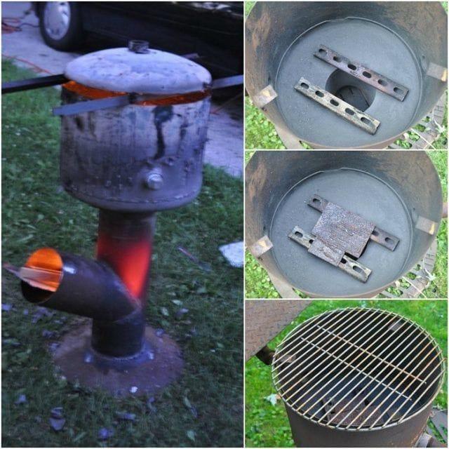 Ракетная печь-барбекю