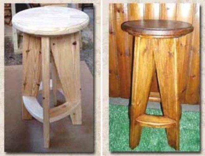 Барный стул: две, доступных для самостоятельного изготовления, конструкции