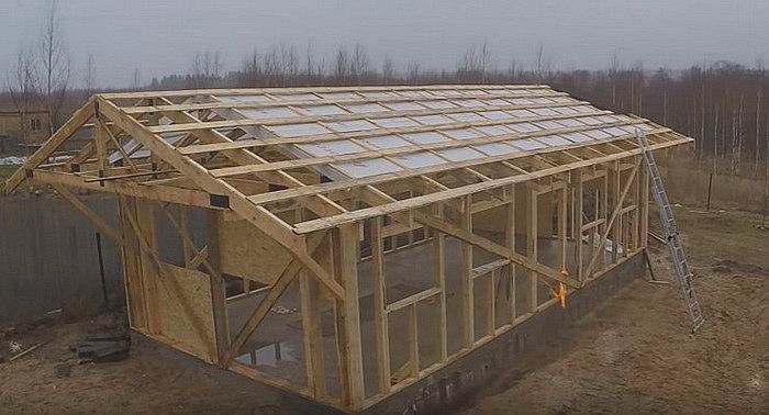 Строим гараж каркасного типа своими руками 65