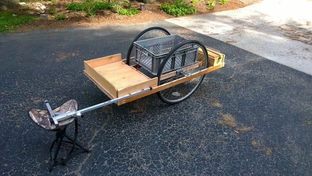 Прицеп для велосипеда из дерева