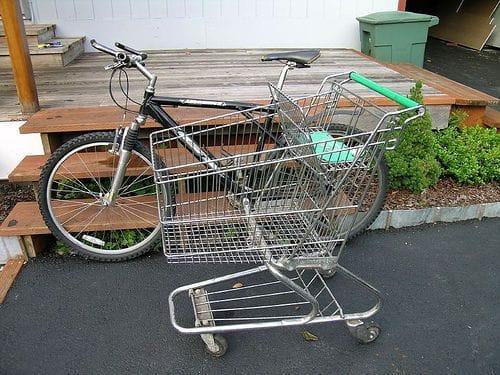 Велосипед-тележка для удобной поездки за покупками