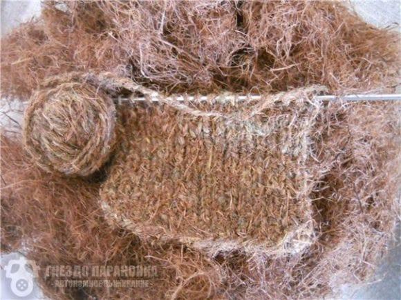 Лесная шерсть из сосновой хвои