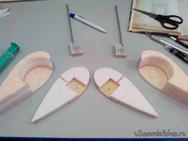 Обтекатели колес для авиамоделей