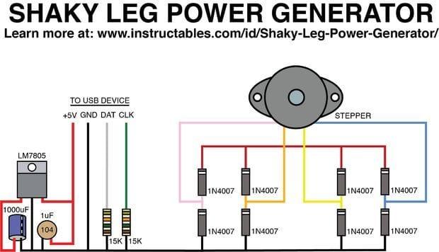 Самодельный ножной генератор для мобильного