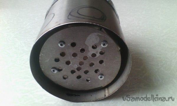 Турбо-печь щепочница из термоса!